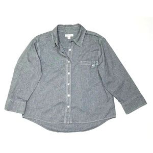 Coldwater Creek Chambray Oxford Shirt Large